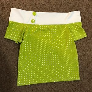 Vintage lime green top